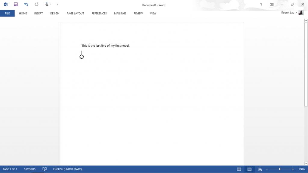 Microsoft Word on Surface RT 002
