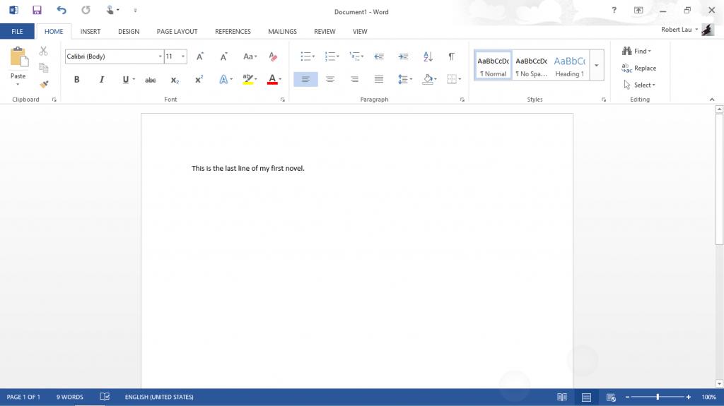 Microsoft Word on Surface RT 003