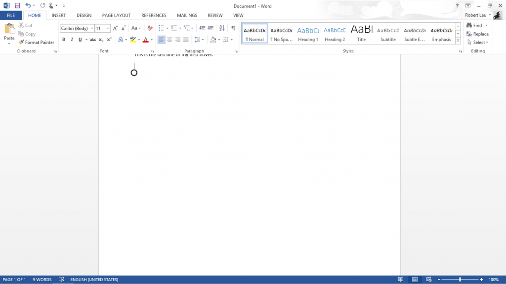 Microsoft Word on Surface RT 004