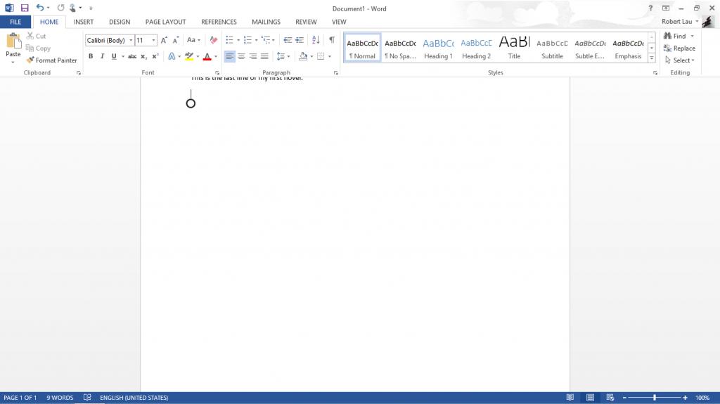 Microsoft Word on Surface RT 004